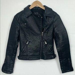 Topshop Jacket Moto Biker Jacket Vegan 2 Black